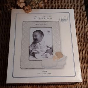 """NWT PRECIOUS MOMENTS 4""""×6"""" BAPTISM PICTURE FRAME"""